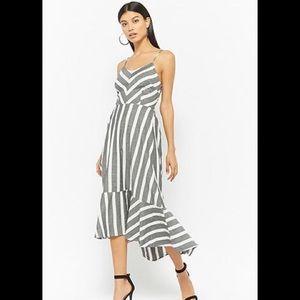 cozy casual Dresses - Gray Striped Dress